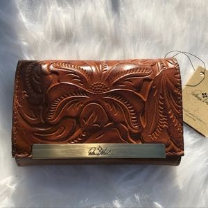Patricia Nash Cametti Embossed Leather Wallet